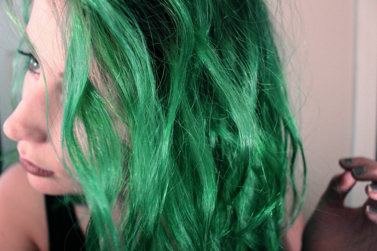 Perfect at home green hair